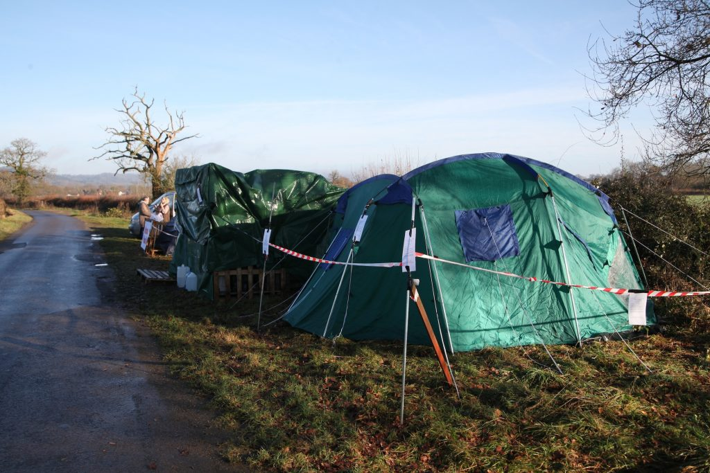Brockham Protection Camp